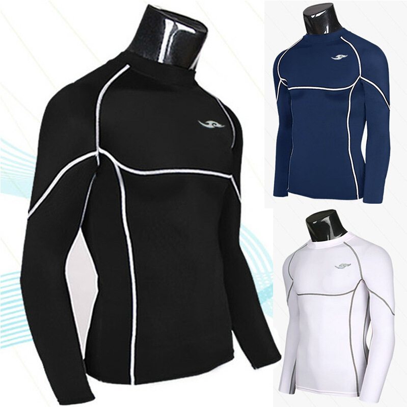 Wholesale-2016 men burst long sleeved T-shirt tight speed dry clothing popular fitness clothing clothing thread boxing training spot 5108