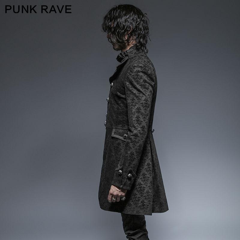 Punk Rave Mens Gothic Coat Long Jacket Black Steampunk Aristocrat Regency VTG