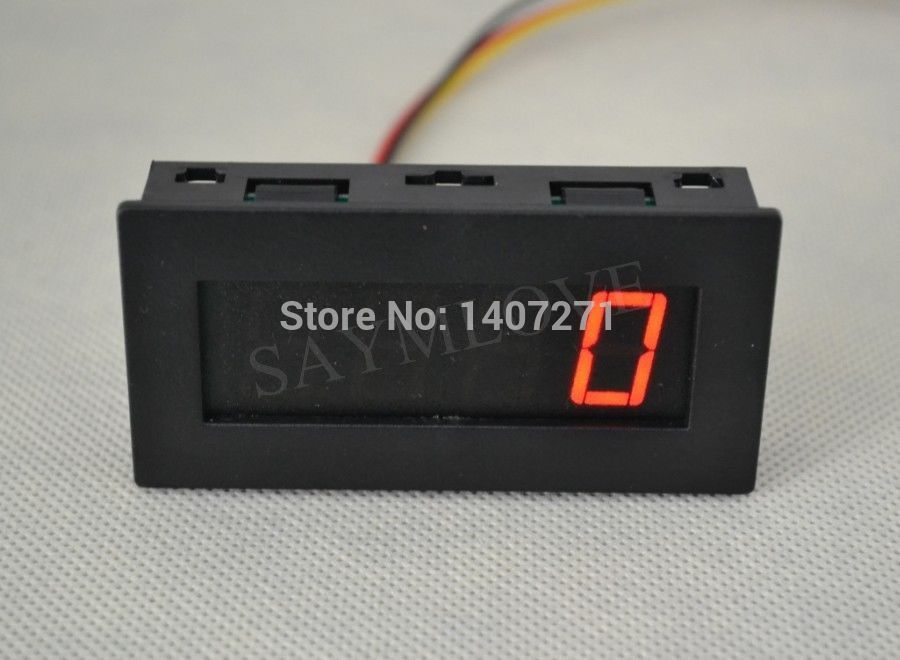 Wholesale-Digital Red LED Tachometer RPM Speed Meter + Hall Proximity Switch Sensor NPN free shipping