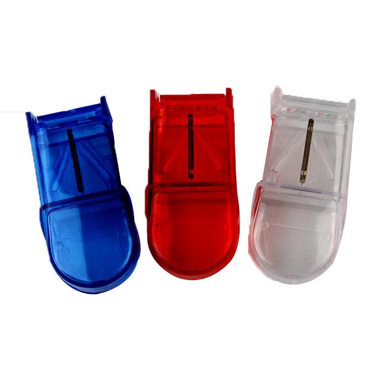 Wholesale-New Convenient Portable  Pill Storage Box Tablet Organizer Splitter Divider Color Random Travel Case HB-0040