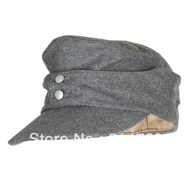 Wholesale-WWII GERMAN ARMY EM PANZER M43 M1943 FIELD WOOL CAP GREY IN SIZES-33693