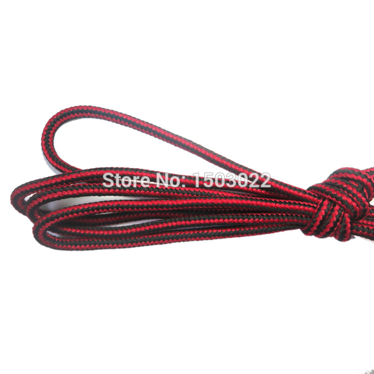 Wholesale-YJY 10 Pair Pack Red Black Mixed Color Round Shoelaces for Sneakers Boots and Shoes (Two Lengths Can Choose: 120 CM or 140 CM)