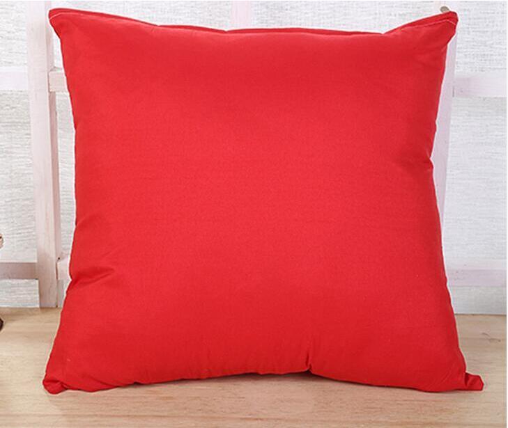 45 * 45cm Home Sofa Throw Pillowcase Pure Color Polyester White Pillow Cover Cushion Cover Decor ...