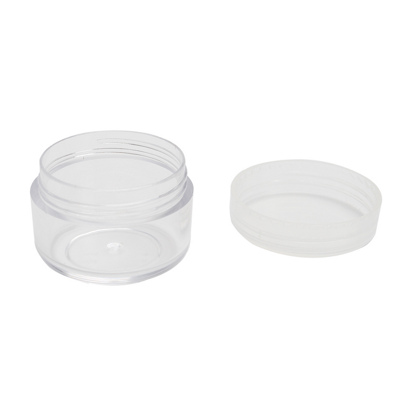 Wholesale 50pcs/lot Outdoor Travel Portable Clear Transparent Empty Makeup Cosmetic Sample Case Holder Storage Containers Small Round