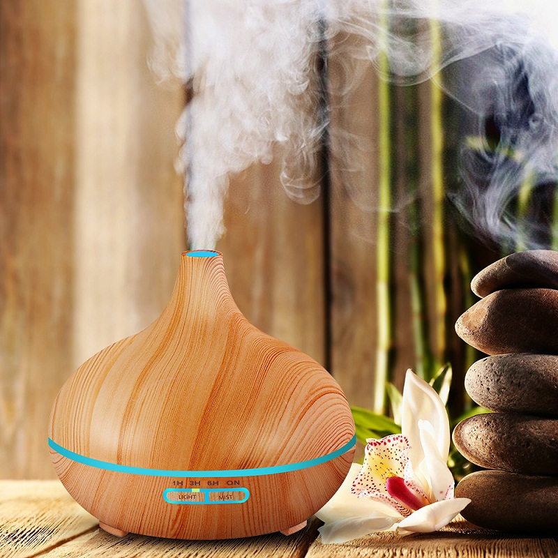 Air Purifier Essential Oil Diffuser Aroma Lamp Aromatherapy Electric Aroma Diffuser Mist Maker Adjustable Light and Mist