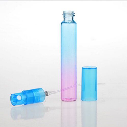 36Pieces/Lot 8ML Mini Portable Colorful Glass Perfume Bottle With Atomizer Empty Cosmetic Containers For Travel