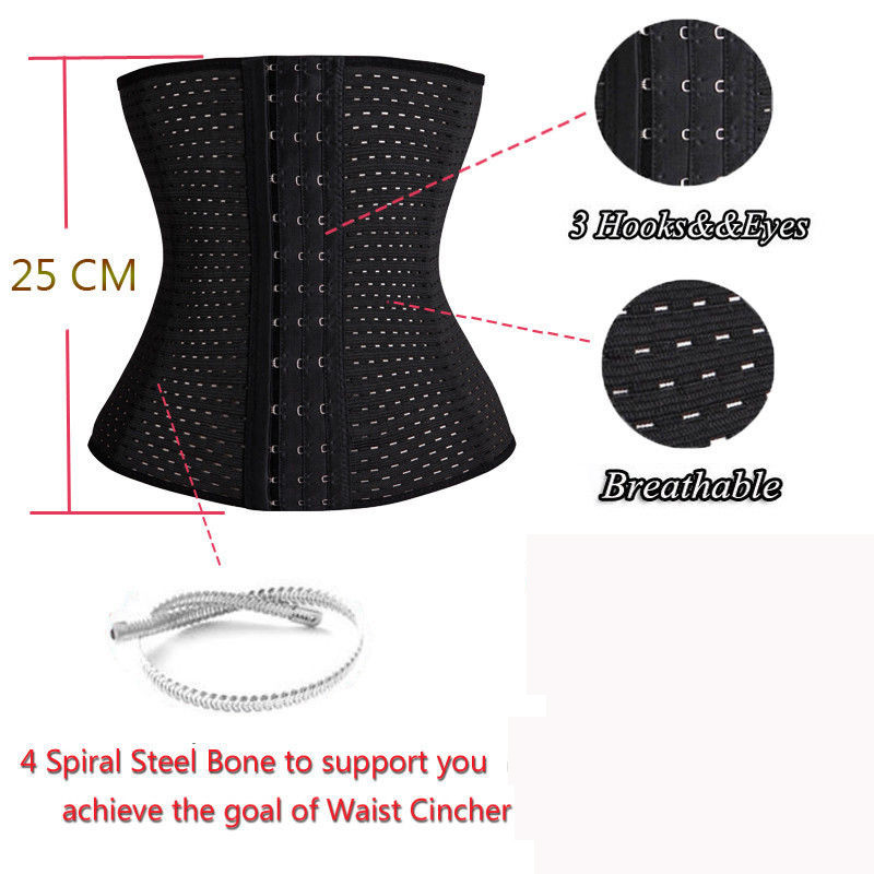 Hot Lady Waist Tummy Girdle Glass Waist Trainer Body Shaper For Ladies Underbust Control Corset Elasticated Belt