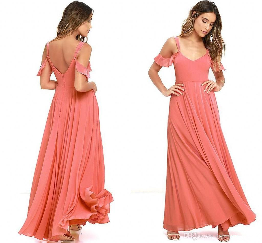 Low Back Wedding Guest Dresses : The shoulder sexy low back maid of honor gowns wedding guest dresses