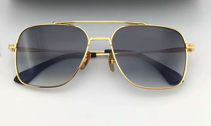 Vintage Sunglasses 905 Gold & White Blue Fashion Designer