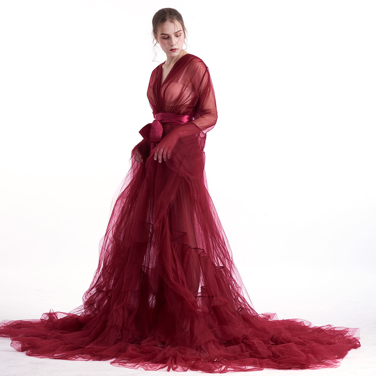 Fairy Vintage Bridal Tulle Evening Gowns Dress Halloween Costumes for Women Medieval Wedding Robe Nightgowns Outwear Elf Costume