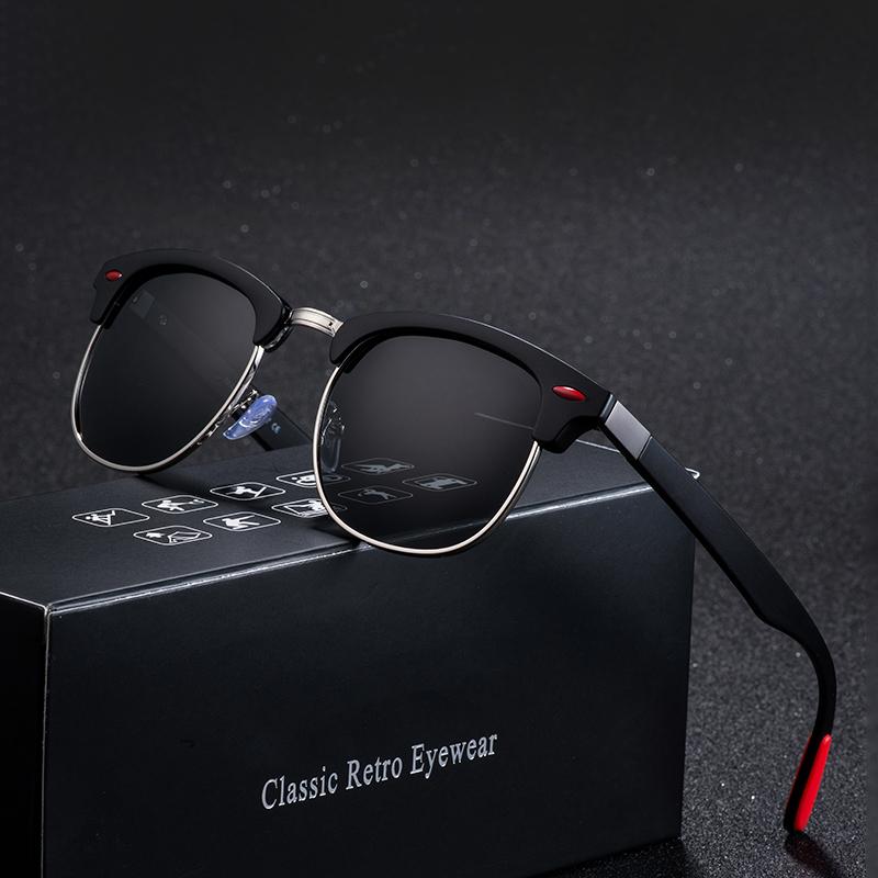 Retro One Piece Rivet Oversized Sunglasses