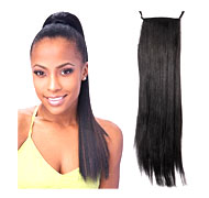Synthetic Straight Long Ponytail