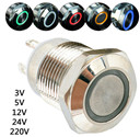 Waterproof Metal Push Button Switch With LED light