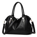 New bag PU high capacity leisure solid color soft shoulder woman handbag Mobile phone documents