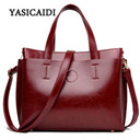 2016 Ladies Hand Bags Famous Brand Bags Logo Handbags Women Fashion Black Leather pochette Shoulder Bag Women Big Bags Purse