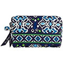Gorgeous Vera Bradley Small Cosmetic Zip Bag in Ink Blue