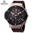 Relojes hombre 2016 new fashion military stylish MEGIR brand mens army calendar rubber men male clock sport luxury watch militar