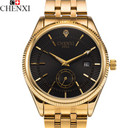 2017 CHENXI Calendar Gold Quartz Watch Men Clock Top Brand Luxury Wrist Watches Golden Hodinky Relogio Masculino quartz-watch