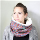 Wool cowl scarf, Chunky scarf, Chunky cowl