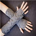 Adjustable Length Wrist Fingerless Gloves
