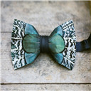 blue bow tie color colorful fall green pheasant feathers tie