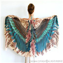 Printed Wings Scarf