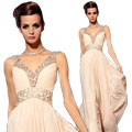 Wholesale V-Neck Evening Dress