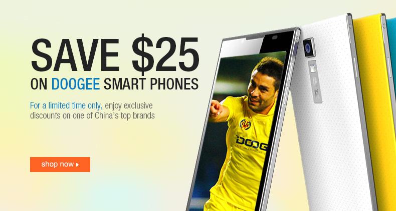Save $25 on DOOGEE Smart Phones