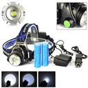5000LM XM-L T6 LED Headlamp Head Light Torch Zoomable 2 X 18650 Battery +Charger