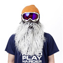 Gray Beard Half Neoprene Face Mask Ski