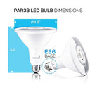 Hyperikon PAR38 LED Bulb, 14W (100W equivalent), 1220lm, 3000K (Soft White Glow), CRI 90+, Flood Light, Medium Base (E26), Dimmable, Energy Star,