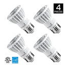 PAR16 LED Bulb, 8W (50W equivalent), 520 lumen, 3000K (Soft White Glow), Flood Light Bulb, 40° Beam Angle, Medium Base (E26), Dimmable, UL-Listed