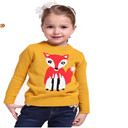 Girls Pullover Fox Sweater