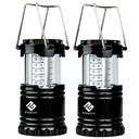 Portable Outdoor LED Camping Lantern (Black, Collapsible)