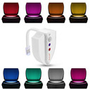 Upgraded Version Motion Sensor LED Toilet Night Light, UV-C light,Kills 99.9% of Mold, Bacteria, Germs, and Viruses- Waterproof design, with 2 Modes in 8 Colors