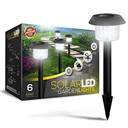 Solar Powered LED Garden Lights, Perfect Neutral Design; Makes Garden Pathways & Flower Beds Look Great; Easy NO-WIRE Installation; All-Weather/Water-Resistant.