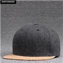 Winter Snapback Caps Baseball Solid Woolen Gorras Snapback