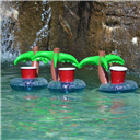 Inflatable Palm Island Drink Holder