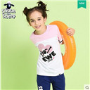 Girls' leisure short sleeve T-shirt