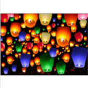 50pcs Mix Color Chinese Paper Lanterns Sky Fire Fly Candle Lamp for Wish Wedding