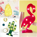 Flamingo Cactus Marquee LED Light Battery Operated For House Wedding Decor Gift