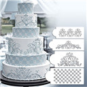 Princess Lace Cake Stencil Set Wedding Cake Cookie Border Stencils Decoration to