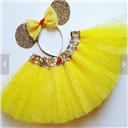 Beauty and the Beast Inspired Costume Tutu Dress Set
