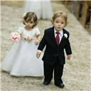 Fashion Princess Style White / Ivory  Lace Flower Girl's Dress