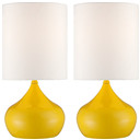 Set of 2 Canary Yellow Accent Lamps