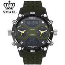 SMAEL Men Sports Watches Waterproof Military Quartz Digital Watch