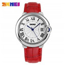 SKMEI Brand Luxury High quality Quartz Leather Wrist Bracelet Fashion Women Watch