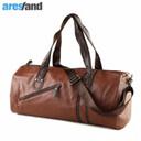 Large Capacity Outdoor Men's Sports Bag PU Leather Tote Duffel Bag