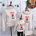 Family Christmas Clothing Winter Sweater Christmas Deer Clothing Polar Fleece Dad Son Hoodies Matching Mother Daughter Clothes