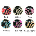 Fashion Crystal Bird's Nest Hair Clips Headwear Ponytail Holder 1PC Curler Roller Headwear Hair Device Girls 8 Colors